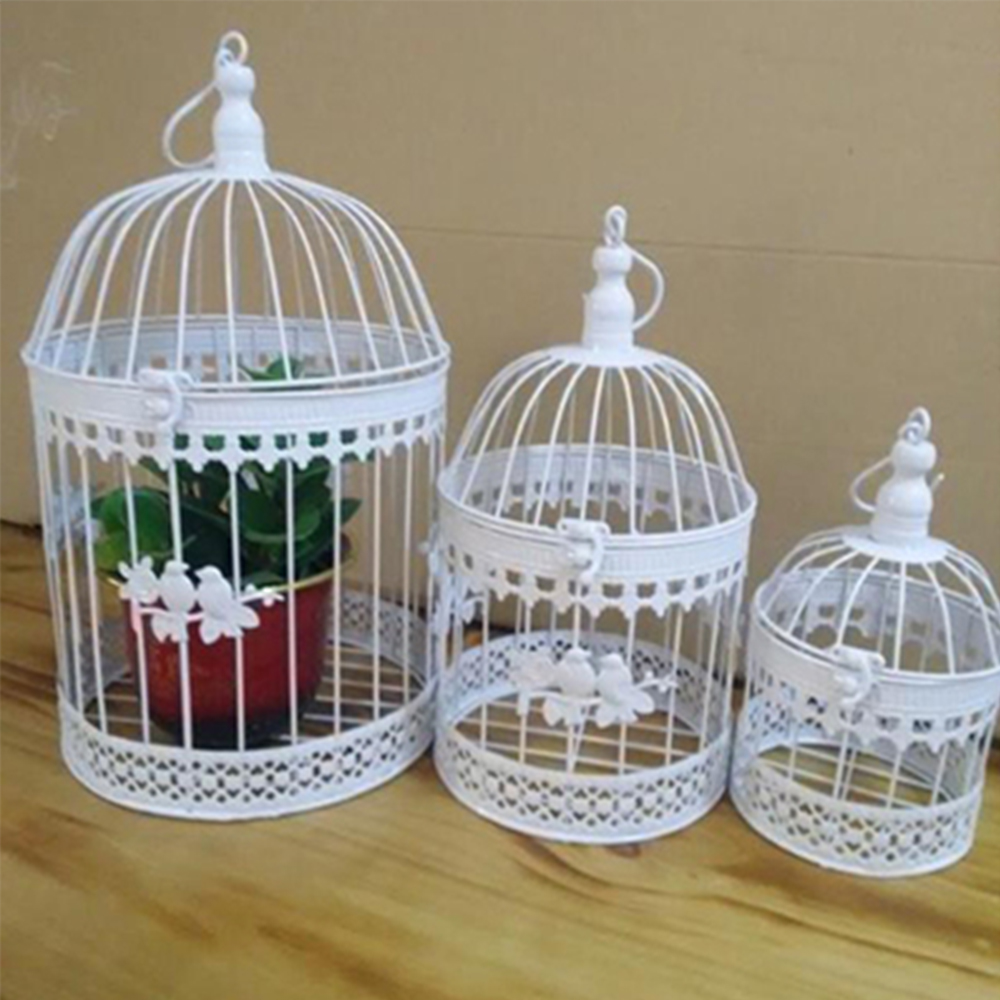 Fashion antique decorative bird cages classic iron flower for Household decorative items