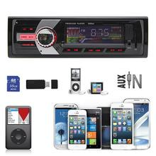 Hot selling New Fashion Car Radio Stereo In-Dash MP3 Music Player FM USB SD AUX Input Receiver(China (Mainland))