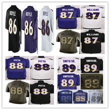 2016 #86 Nick Boyle,#87 Maxx Williams,#88 Dennis Pitta,#89 Steve Smith Sr. men women youth kids Jerseys White purple black M-4XL(China (Mainland))