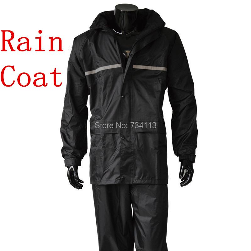 Raincoat,rain pants,Heavy rain gear,Waterproof motorcycle bicycle rain jacket suit poncho table size Large Size fishing raincoat(China (Mainland))