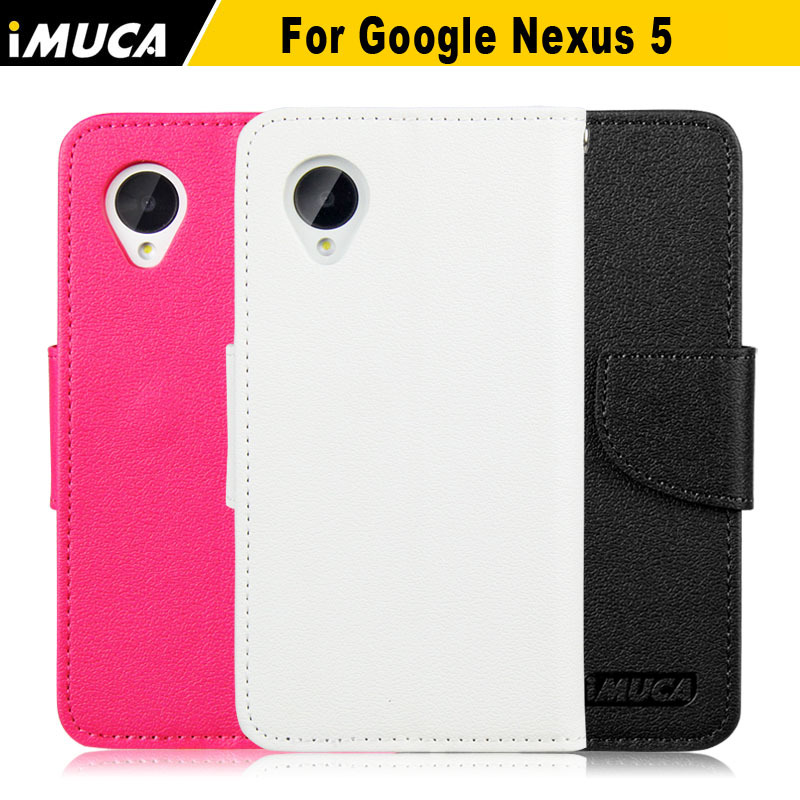 iMUCA Case Flip Leather Wallet Card Shell Pouch Stand Case Cover For Google LG Nexus 5 Mobile Phone Accessories In Stock(China (Mainland))