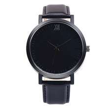 Buy 2017 Black simple mens watches top brand luxury Retro Design sport Leather Band Analog Alloy Quartz Wrist Watch reloj hombre for $2.53 in AliExpress store