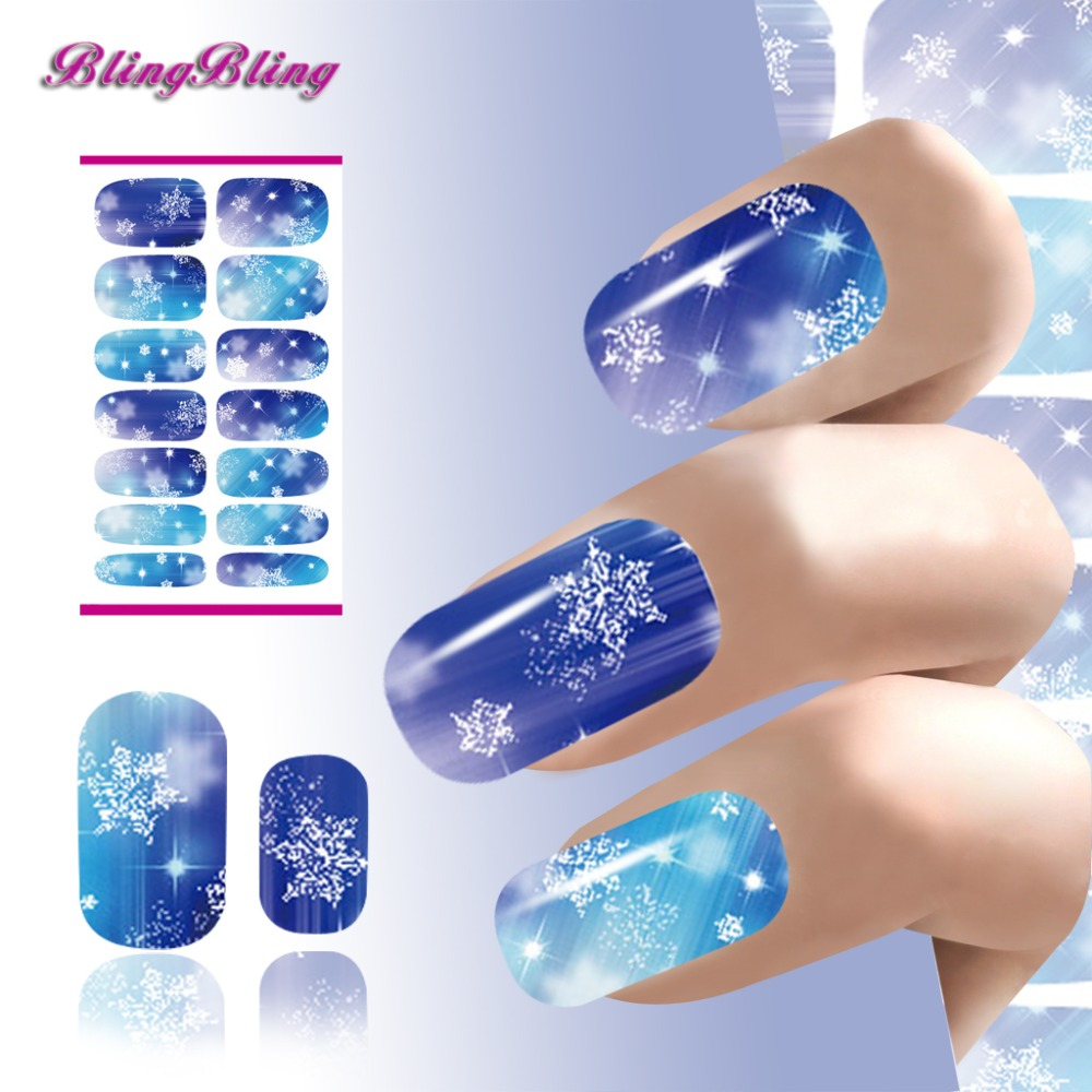 Xmax Nails Sticker Christmas Snowflake Nail Art Sticker Flash Diamond Designs Nail Wraps Foils Manicure Decoration(China (Mainland))