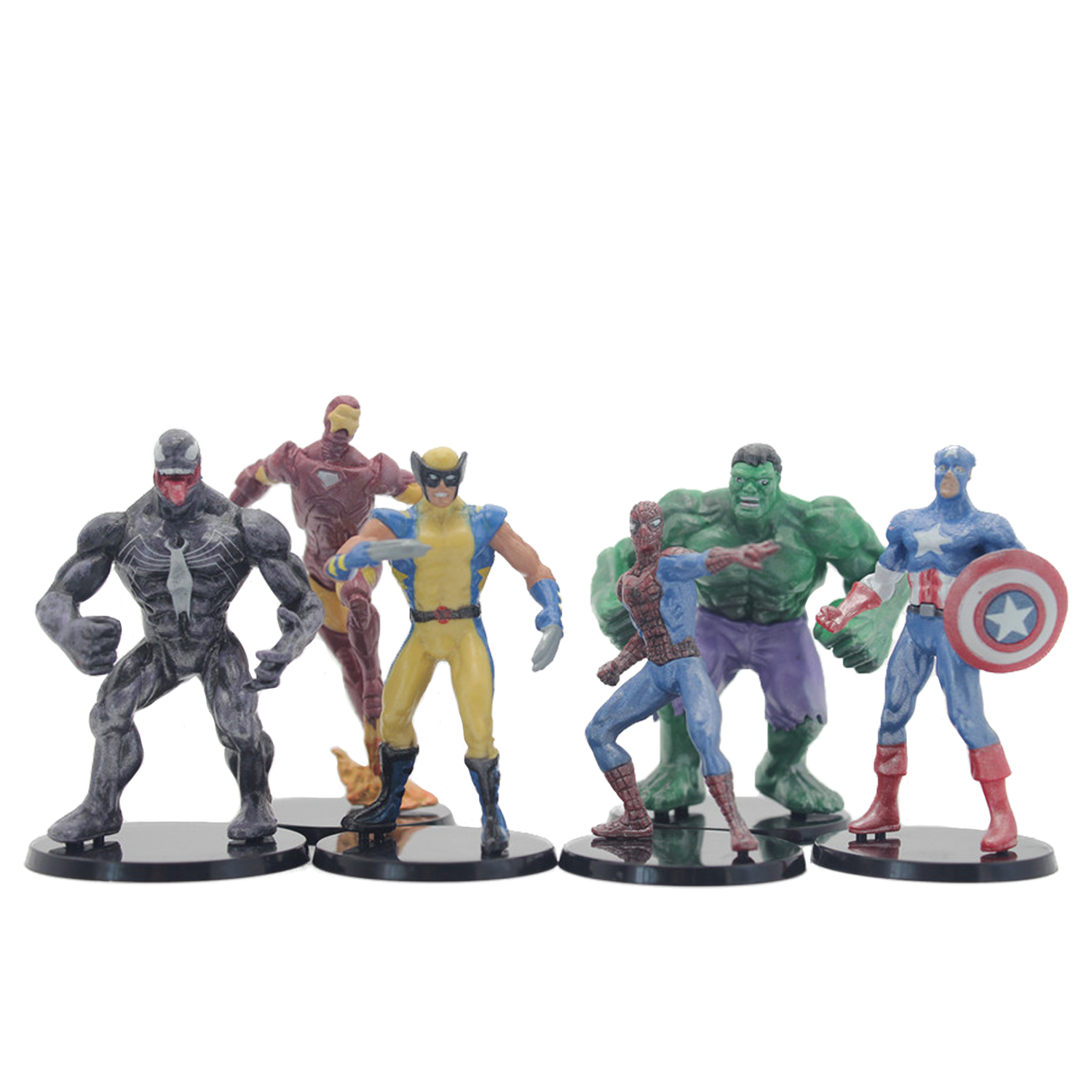 OPP Big Sale Now 6PCS/Lot Marvel Avengers Civil War Captain America 3 Iron Man Hulk Spiderman Doll 8cm PVC Action Figure Toys(China (Mainland))