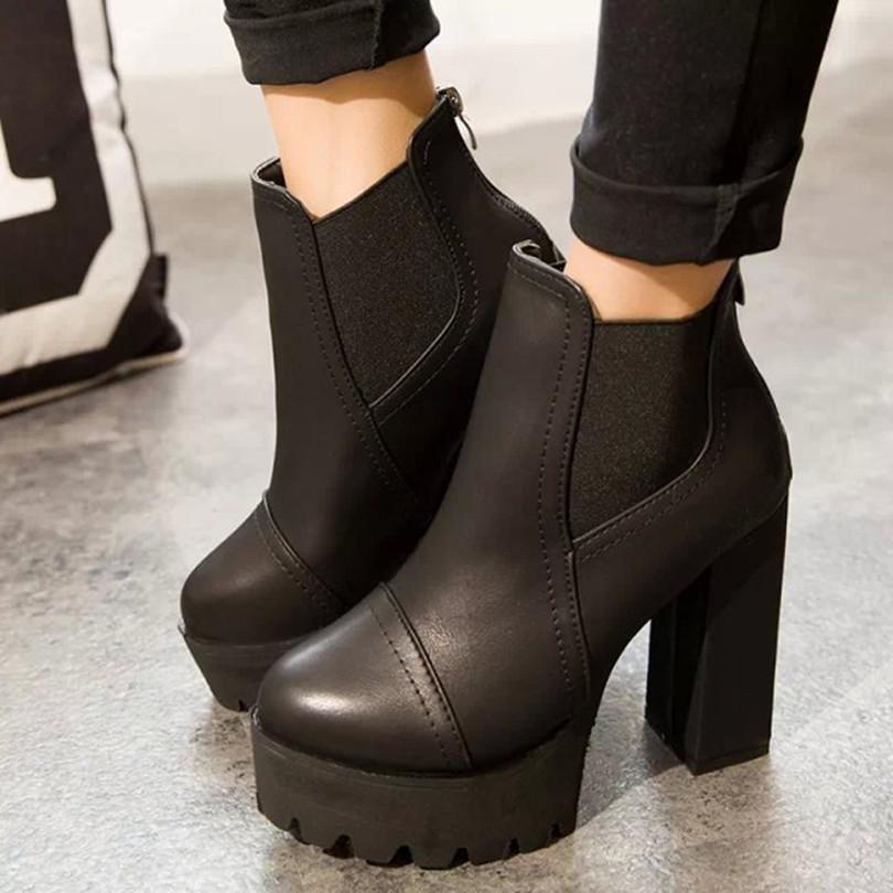 Ботинки женские фото шпильке на