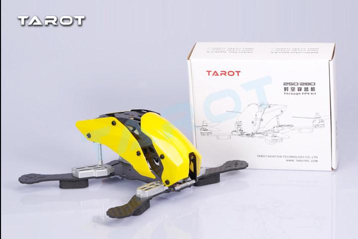 DIY mini drone cross race quadcopter Tarot TL250H/TL280H frame unassembled pure carbon fiber better than robocat