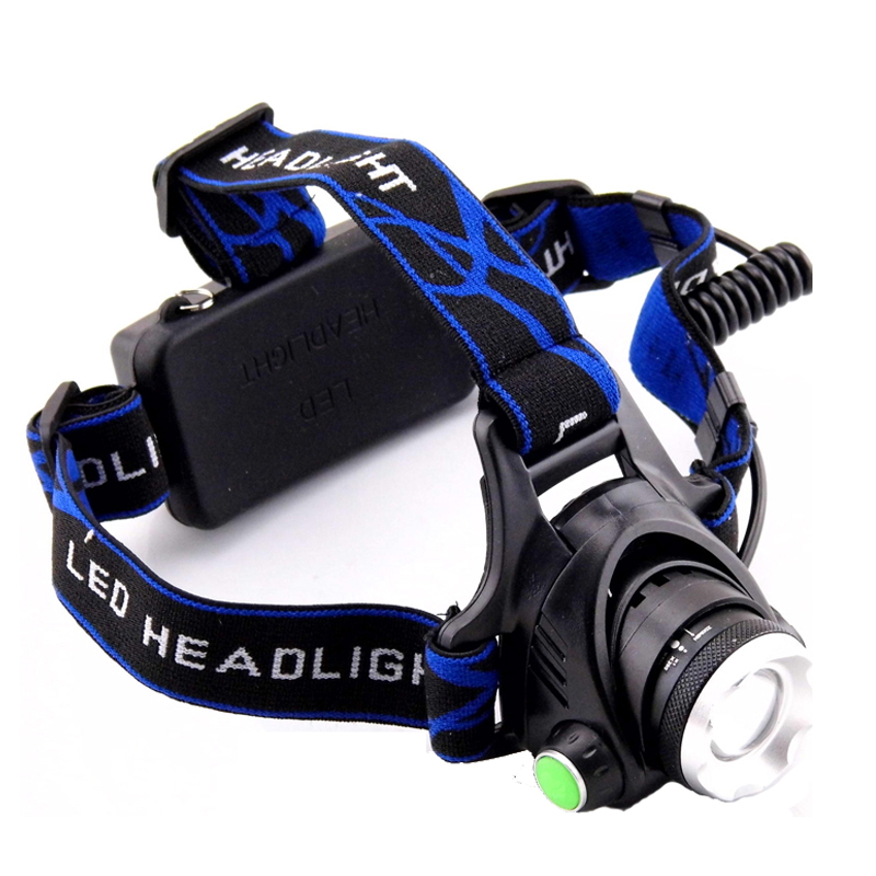 Waterproof Headlight Cree Q5 Led Headlamp 18650 Battery