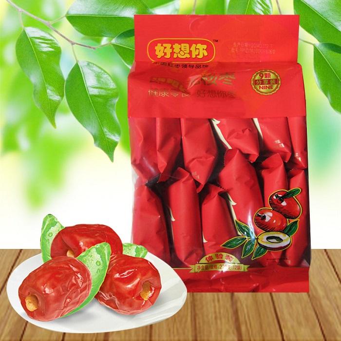 """HAO XIANG NI"": Instant seedless jujube, Xinjiang red dates. Chinese snack, dried fruit. 270g/bag(China (Mainland))"