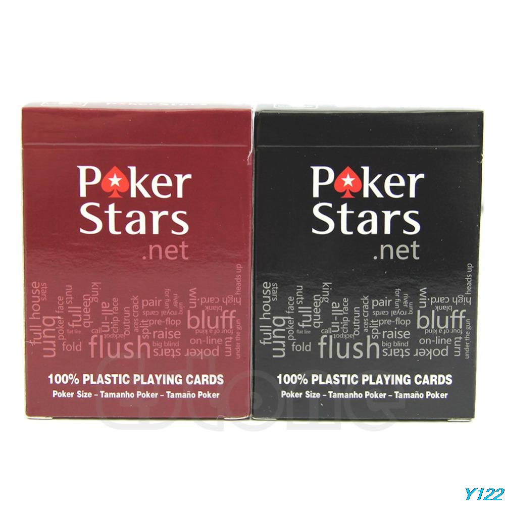 Free shipping New 2Pcs Colors Plastic Poker Playing Cards Sealed Standard Casino Regular Size-JZ122<br><br>Aliexpress