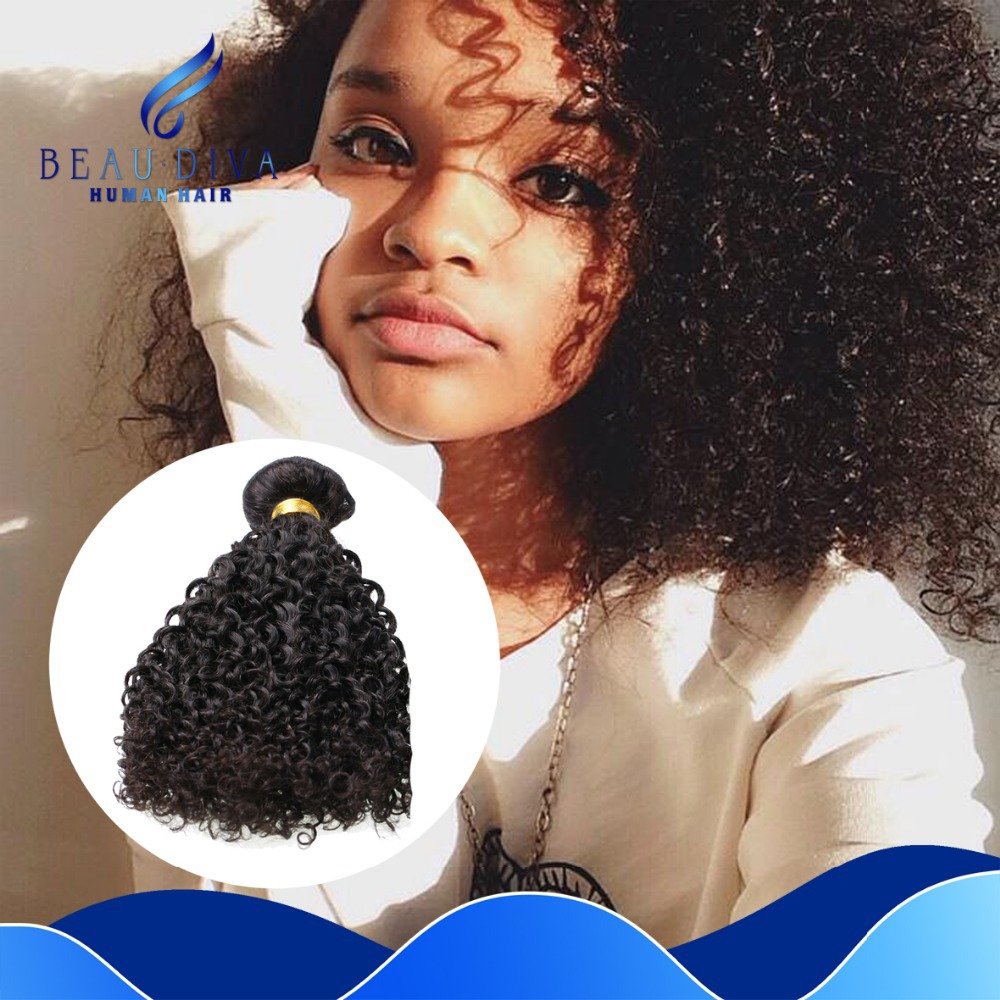 Afro Kinky Curl Human Hair 4 Pcs Malaysian Curly Virgin Hair Bundles Cheap Curly Virgin Human Hair Extensions 8-30 Inch  <br><br>Aliexpress