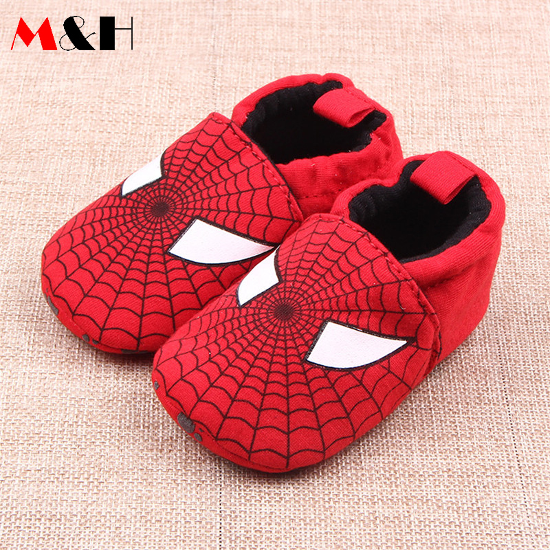 2016 Spiderman Baby Shoes Red Soft Bottom Shoes Baby First Walkers Newborn Brand Infant Boy Shoes Toddler Girls Sapatos De Bebe(China (Mainland))