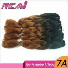 6Packs 24″ 100G Black/Chestnut Brown Ombre Two Tone Color Kanekalon Xpression Jumbo Box Braiding Hair Marley Hair Crochet Braids