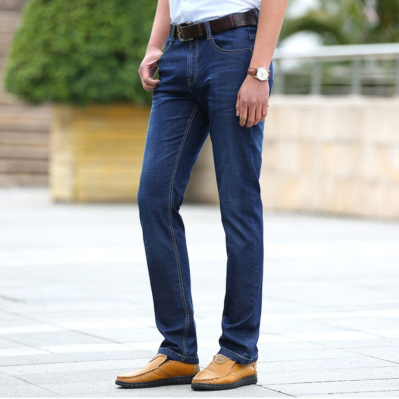 MEBOSYA 2016 Summer Men's Jeans Brand Clothing Casual Blue Mid Waist Straight Denim Jeans Long Pants Loose AFS JEEP 29~42