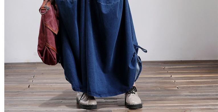 2017 Spring Autumn Women Casual Plus Size Cotton Knit Jeans Wide Leg Pants Jeans Personality