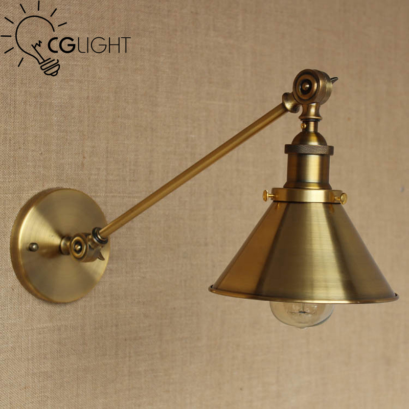 American Vintage Wall Lamp Indoor Lighting Bedside Lamps Iron Lights Industrial Loft Sconce Fixtures Home E27 base - MM Factory store
