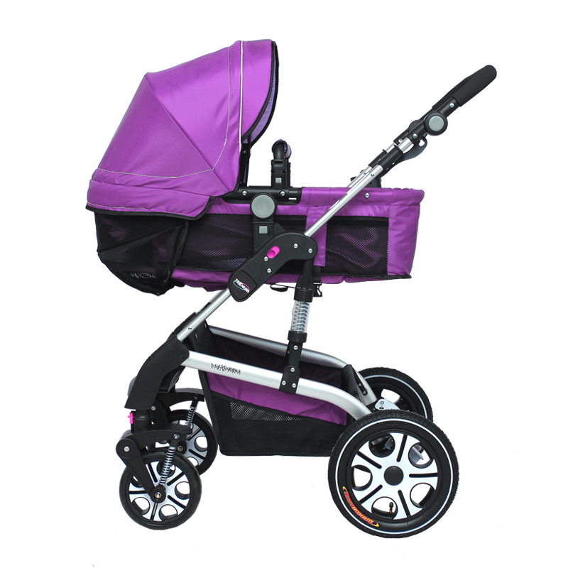 Free shipping baby stroller high landscape Aluminum Alloy sit flat wheel two-way shock-absorbing foldable pushchair(China (Mainland))