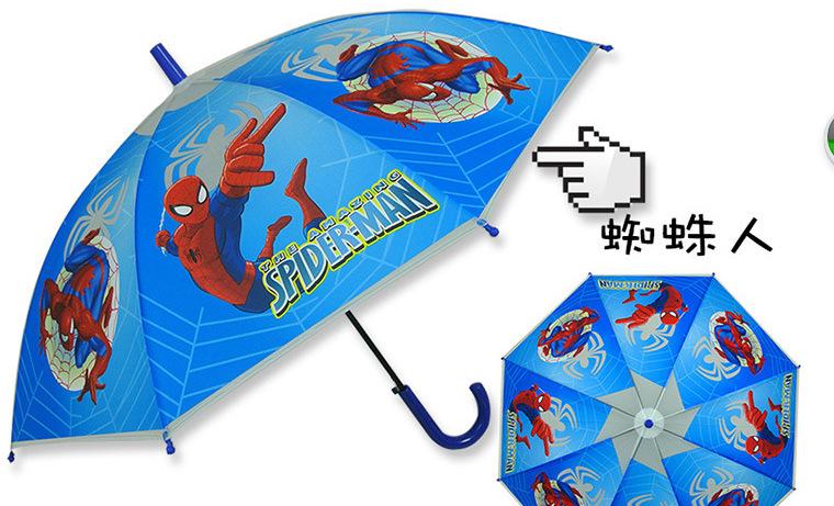 High quality Free shipping 1pcs/lot Hot Cartoon Dome Umbrella Kids Child spiderman/car/Tangled Umbrella Rain Kids(China (Mainland))