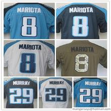 100% Stitched #8 Mariota #29 Murray Size:M-XXXL,Embroidery logos,Best Quality(China (Mainland))