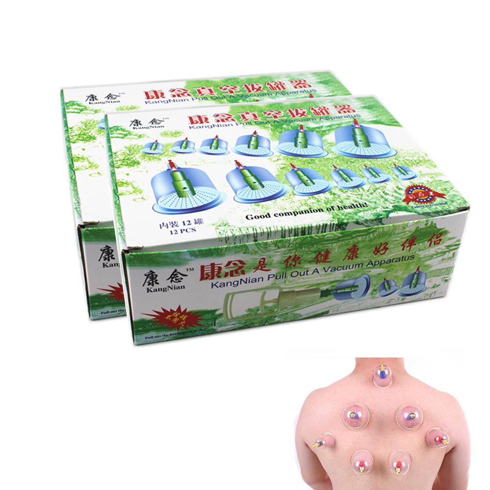24 Cups/2Boxes Chinese Effective Healthy Medical Vacuum Cupping Tens Therapy Device Set Body Back Massager Health Care D0203(China (Mainland))