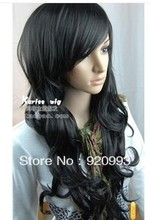 free P&P******* NEW Sexy long curly Natural black hair women's wig