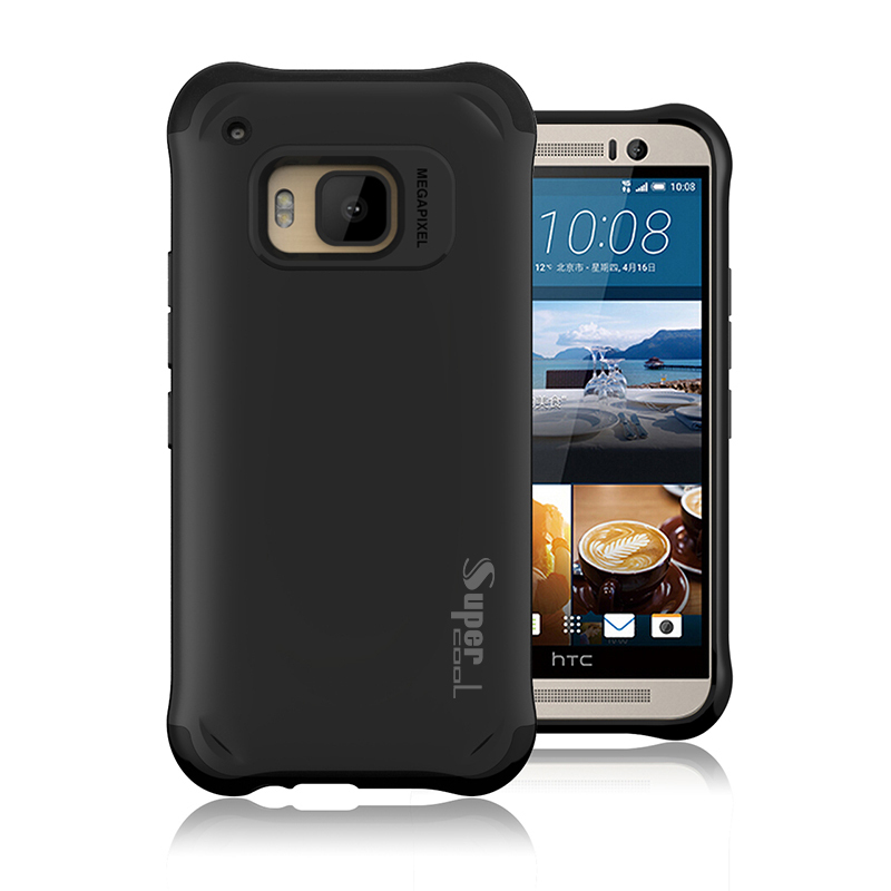100pcs/lot Dual Layer Rugged Stand Armor Hybrid Hard Cell Phone Case Tough Armor For HTC One M9 Free Shipping(China (Mainland))