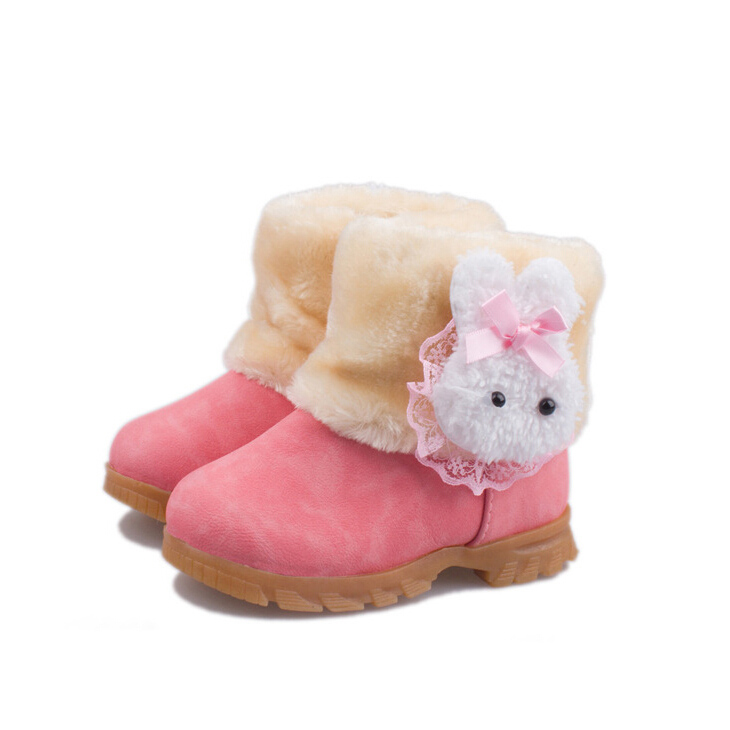 2015 New Children Shoes Personality Lobbing Ball Snow Boots Girls Winter Brown Pink Red SIZE 5.5 6.5 7 7.5 8 - Online Shop NO.1 store