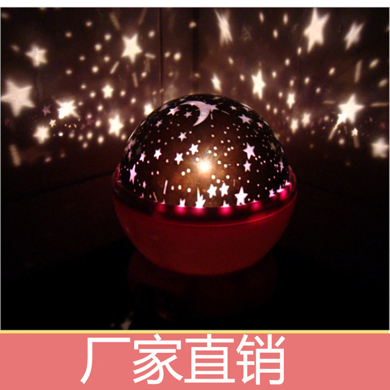Room Novelty Night Light Projector Lamp Rotary Flashing Starry Star Moon Sky Star Projector Kids Children Baby(China (Mainland))