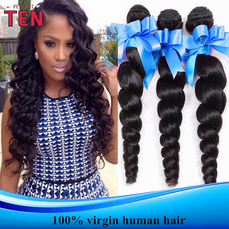 6A Unprocessed Virgin Hair 4 Pcs Burmese Virgin Hair Loose Curly wave Human Hair Bundles Burmese loose wave virgin hair(China (Mainland))