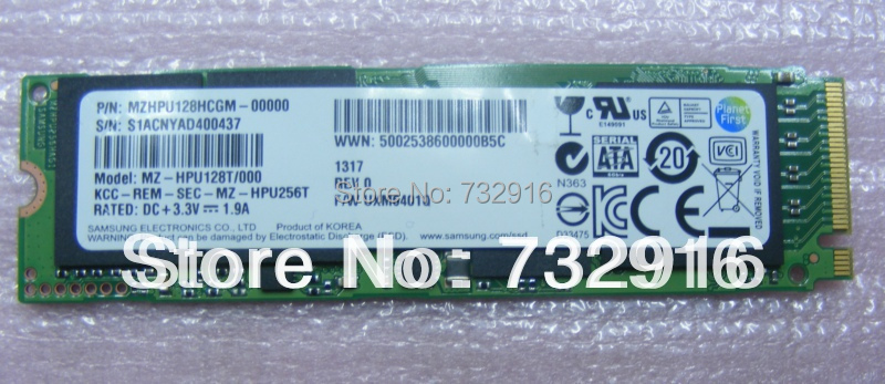 Free shipping  MZ-HPU128T/000 128GB SATA3.0 6.0GB+PCIE x 2  NGFF  SSD100% NEW MZHPU128HCGM  for So-ny por11 por 13<br><br>Aliexpress