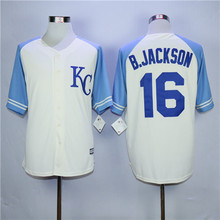 New Bo Jackson Royals Jersey Kansas City Royals Jersey Lorenzo Cain Eric Hosmer Alex Gordon Mike Moustakas Salvador Perez Jersey(China (Mainland))