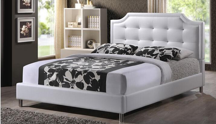Lizz european style upholstered headboard modern bed - Tapizados sofas precios ...