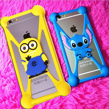 Universal Anti-Shock Silicone Phone Bag Case For GoClever Quantum 2 400 Cartoon Cover for All Mobile Phone 3.7 ~ 6.0 inch