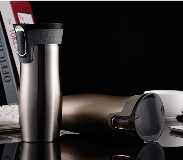 New Arrival 450ml Double Stainless Steel Vacuum coffee pink travel mug cute Office keep Car Water Home Thermos Flask My Bottle(China (Mainland))