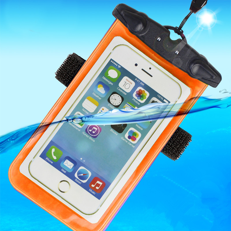 Waterproof Swimming Phone Cases & Bags With Armband Hang Rope Diving Surfing Underwater Pouch Universal(China (Mainland))