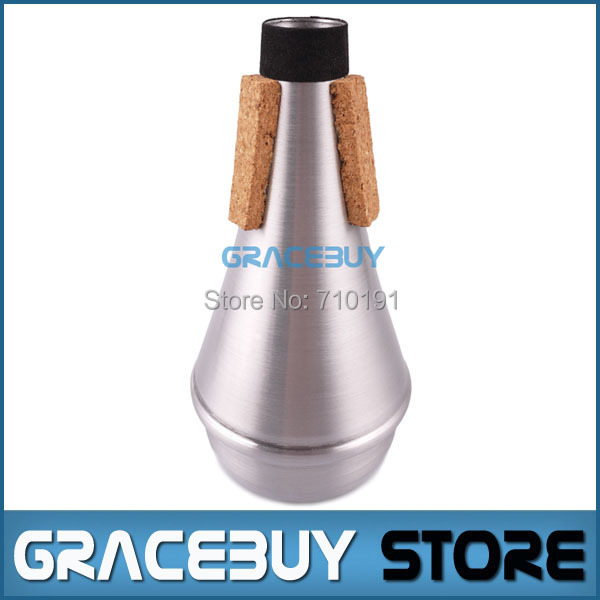 Trumpet Practice Mute Professional Silver Aluminum Straight Trumpet Cornet Silencer - Brand new Free shipping(China (Mainland))
