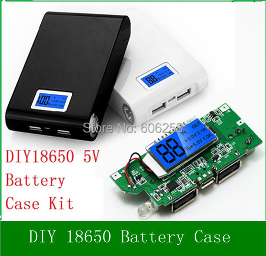 18650 Charge Mobile Power Case / DIY Kit LCD Digital display 5V Boost Lighting Circuit Board Assembly battery  -  PutLed Technology Co., Ltd store