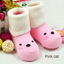 0 3 year old Autumn and winter cotton baby socks children baby cartoon socks thick warm