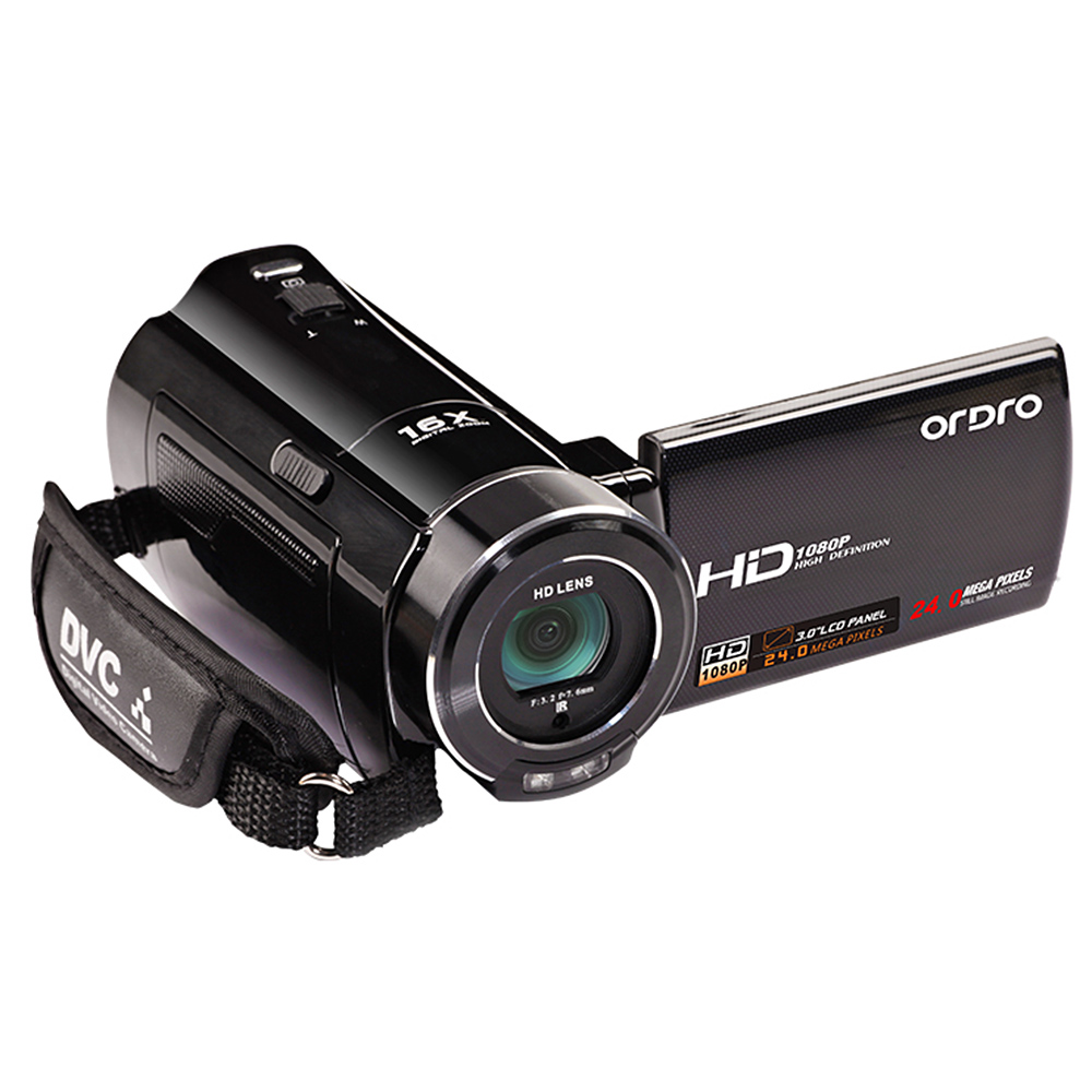 "ORDRO HDV-V7 Mini Camcorder 1080P Full HD 24 MP CMOS Digital Video Camera with 3.0"" Rotatable LCD Screen Support Face Detection(China (Mainland))"