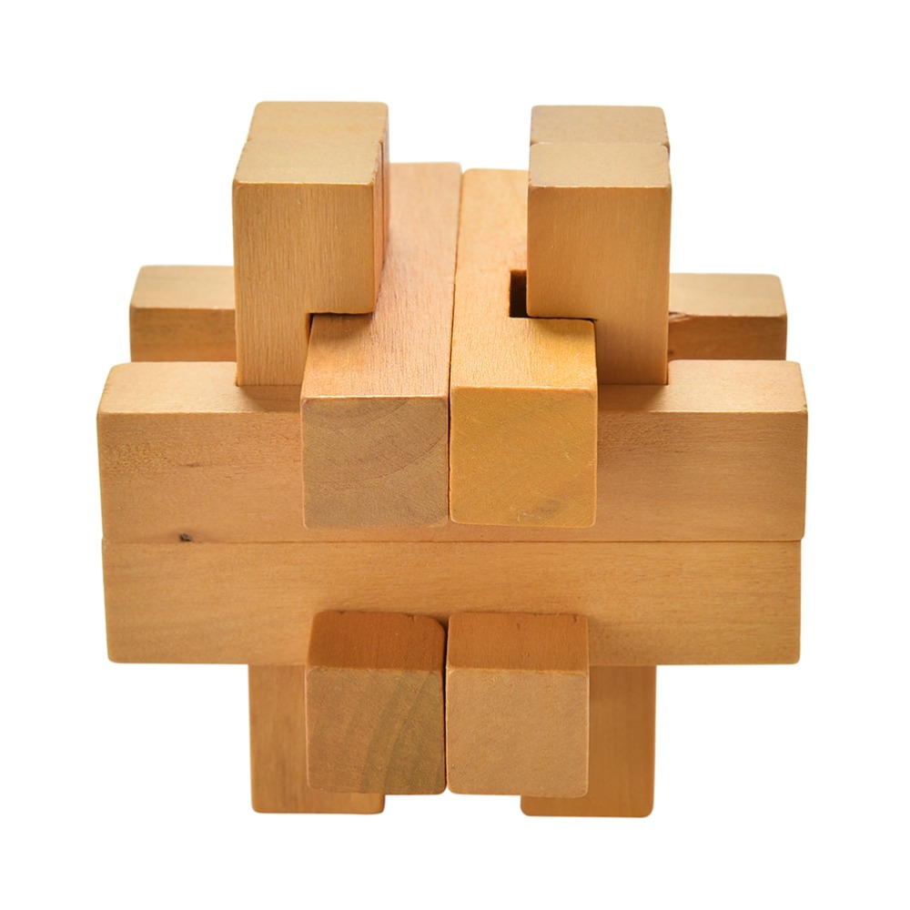 Kong Ming Luban Lock for Adult Children Kids Puzzles Brain Training Toy Wooden Puzzle CubeTaking the Ball Out Educational Toy(China (Mainland))