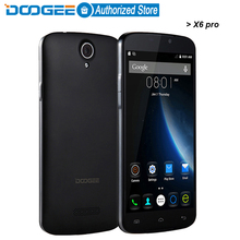 Doogee X6 pro mobile phones 5.5Inch HD 2GB RAM+16GB ROM Android 5.1 Dual SIM MTK6735 Quad Core 5.0MP 3000mAH GSM WCDMA LTE WIFI