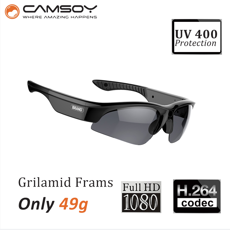 Real 1080P Full HD Lightweight 49g UV400 protection sun glasses camera action camera glasses(China (Mainland))