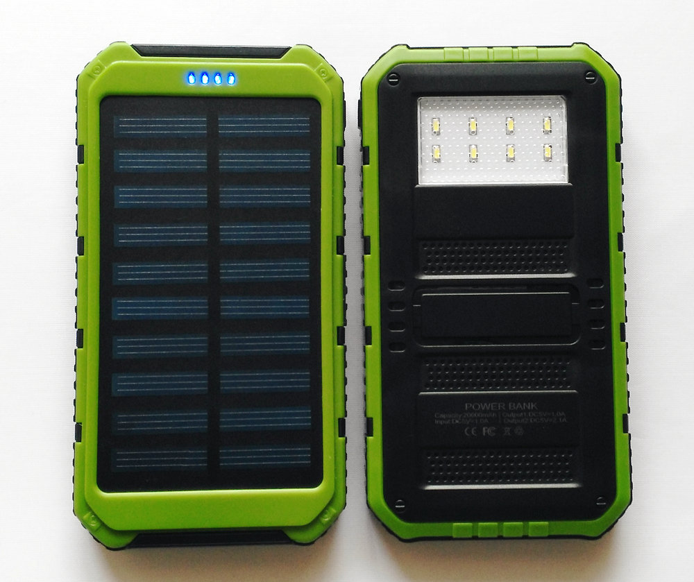 GrArK real 6000mAh 8 LED Camp Light Solar Panel Charger batery pack 2 USB emergency power bank For iPhone Samsung mobile phone(China (Mainland))