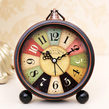 Retro time of the metal child small alarm clock fashion wall clock electronic clock(China (Mainland))
