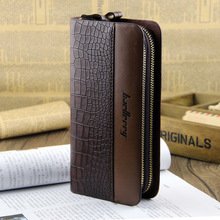 Large Capacity Baellerry Brand Business Men Clutch Wallet High Grade PU Leather Alligator Men Clutch Bag