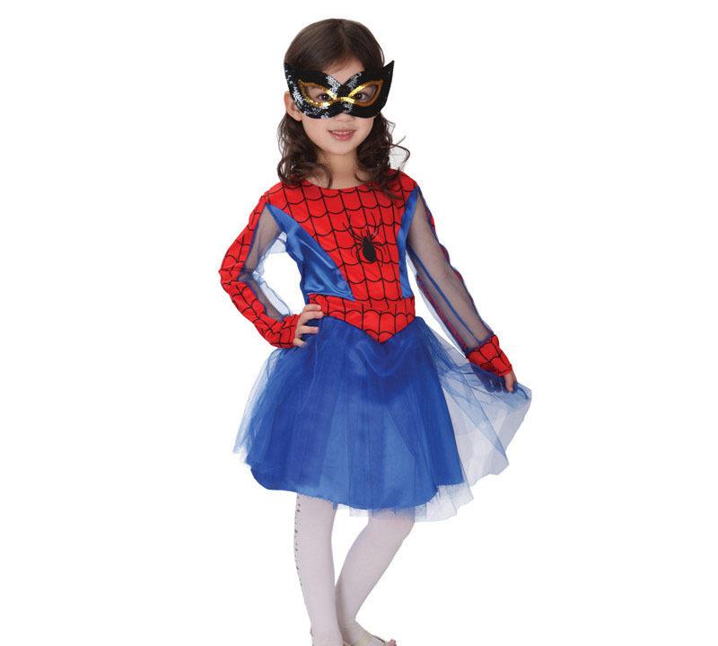 Spider Girl Costume Halloween Kids Fancy Girls Anime Cosplay Performance Children - REDONTA Womens Grand store
