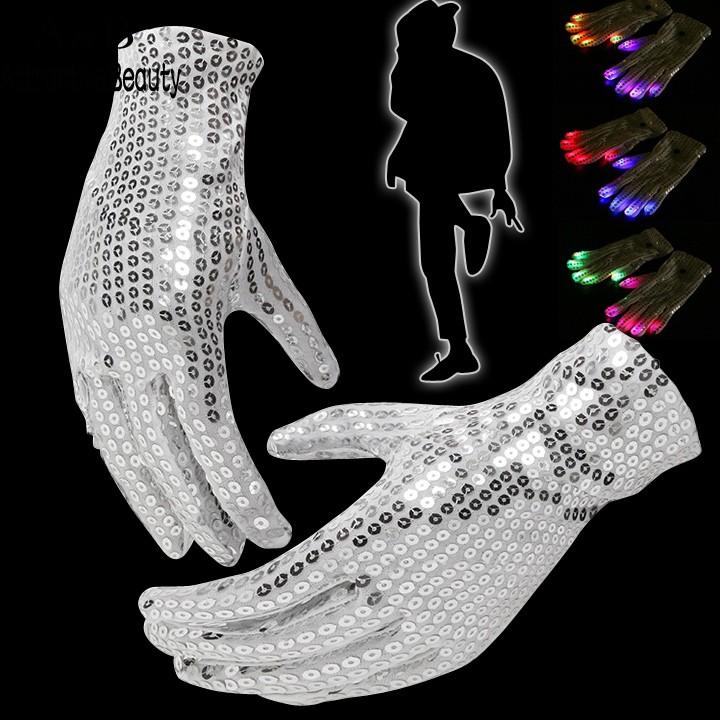 7 Mode Light Up Finger Lighting LED Rave Flashing Sequins Gloves Glow(China (Mainland))