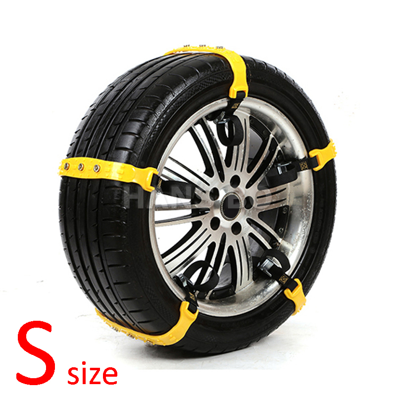 5 Pcs/Lot S size Car Winter Snow Tire Anti-skid Chains Thickened Beef Tendon Vehicles Wheel Antiskid TPU Chain 145-175mm Types(China (Mainland))