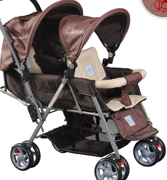 twins baby stroller baby car rear seat folding double stroller. Black Bedroom Furniture Sets. Home Design Ideas