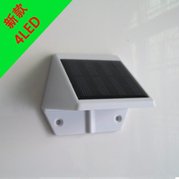 Triangle Solar fence lights 4led Solar wall lamps for garden decorative 6pcs/lot Free shipping
