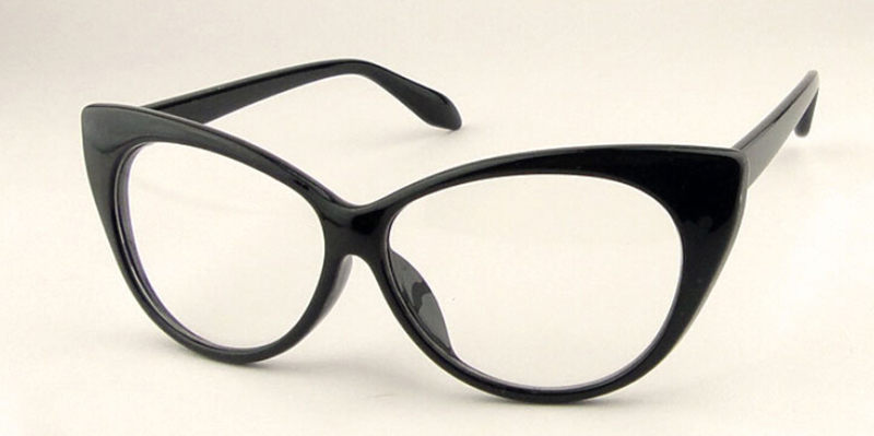2015 NEW ARRIVE Sexy Vintage Fashion Cat Eye Shape Women Lady Girls Plastic Plain Eye Glasses